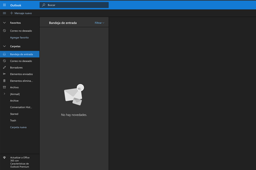 El Modo Oscuro está de moda: así puedes activarlo en Outlook.com si ya lo usas en tu navegador o en tu PC