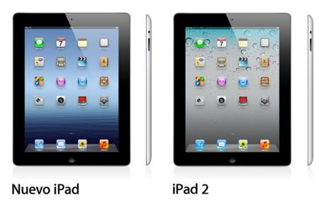 ipad 2 y nuevo ipad