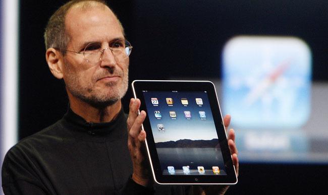 Steve Jobs presentando el iPad original