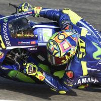 El secreto de Valentino Rossi en el GP de Aragón: freno trasero de pulgar para ayudar a su pierna derecha