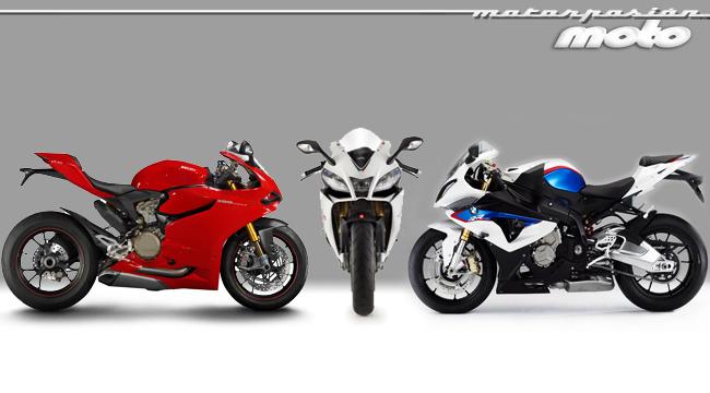 BMW S1000RR, APrilia RSV4 APRC, Ducati 1199 panigale