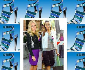 Sarah Jessica Parker y Heidi Montag con los mismos zapatos