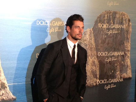 El estilo de David Gandy en la fiesta de Dolce & Gabbana en Madrid