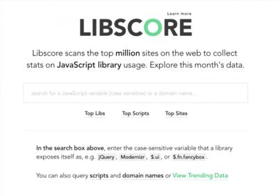 Libscore: ¿Qué librerías front-end usan las webs más populares?