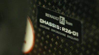 Renault R26, primer chasis