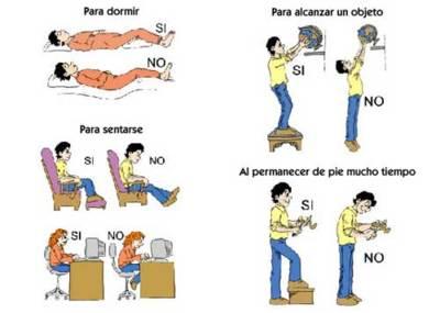 Higiene postural para evitar sustos al realizar las tareas domésticas