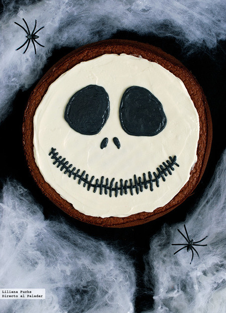 Tarta de chocolate de Jack Skellington