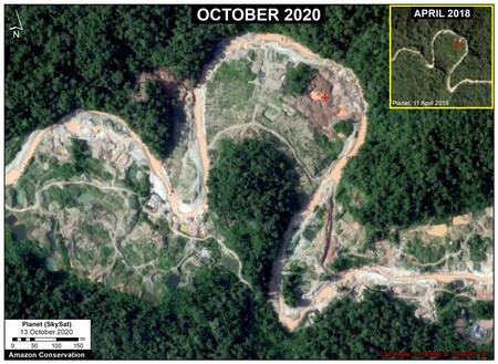 Comparación de la deforestación que ha sufrido La Pampa en dos años.