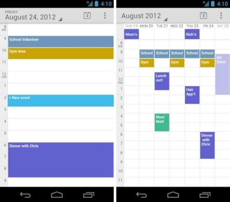 Google Calendar ahora disponible para todos los smartphone con Ice Cream Sandwich