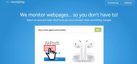 Visualping, o cómo recibir alertas cuando algo cambie en una web que quieras monitorizar