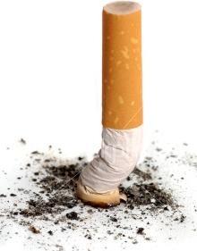 La basura de los cigarrillos