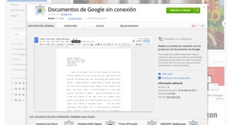 Documentos de Google sin conexión