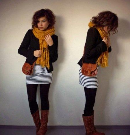 Streetstyle moda a rayas: vestidos cortos