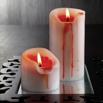 Vela sangrienta para Halloween