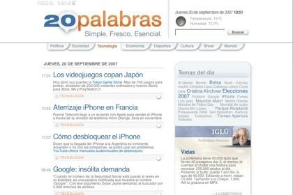 20palabras, periodismo distribuido en internet