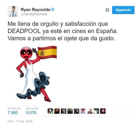 Ryan Reynolds en Twitter