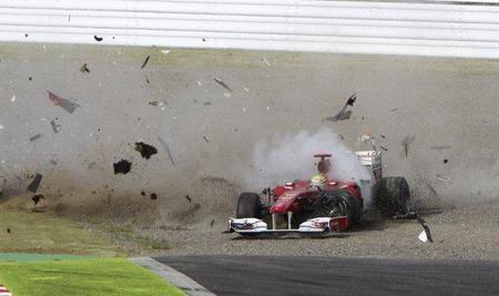 Gran Premio de Japón de Fórmula 1. Felipe Massa recibe el apoyo de Luca Cordero di Montezemolo