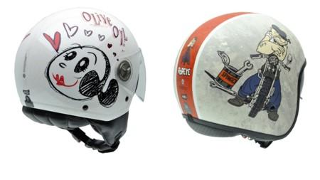 Nuevas gráficas de Popeye y Olivia Oyl para los cascos NZI