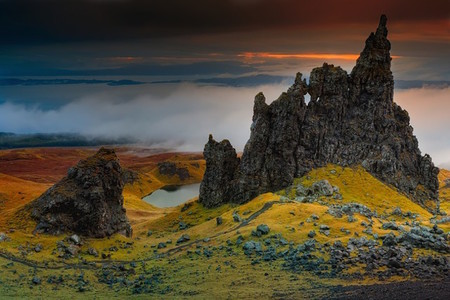 Rocks And Cliffs At The Isle Of The Skye