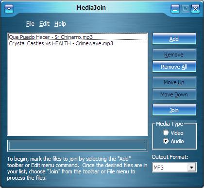 Une archivos multimedia con Media Join