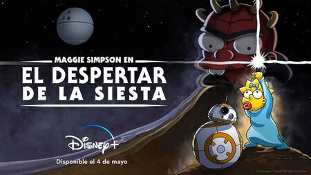Corto animado de de Los Simpson con Maggie y Star Wars en Disney+