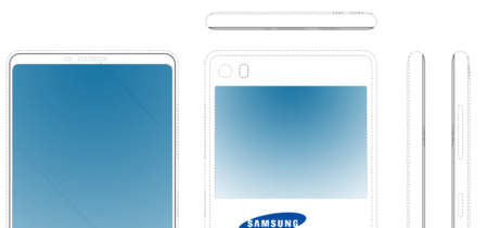 Samsung tiene una nueva solución para que la cámara frontal deje de estorbar: quitarla y poner una pantalla trasera
