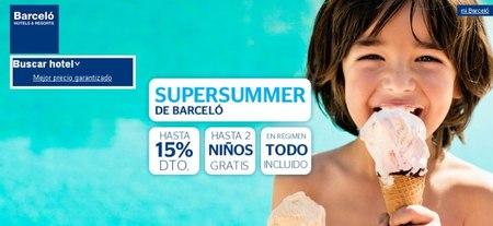 """Barceló y su """"SuperSummer! ¡planea tus vacaciones!"""