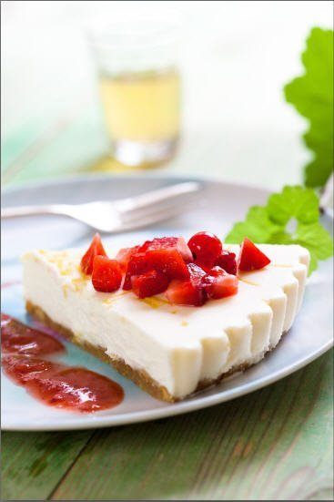 Receta de tarta de queso súper fácil con azúcar glacé