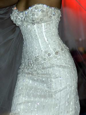 Vestido de novia con diamantes