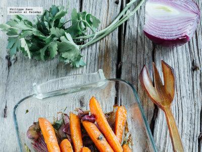 Zanahorias asadas con comino. Receta ligera