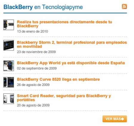 Artículos BlackBerry