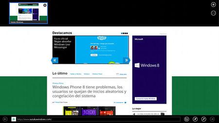 Internet Explorer 10, interfaz Modern UI
