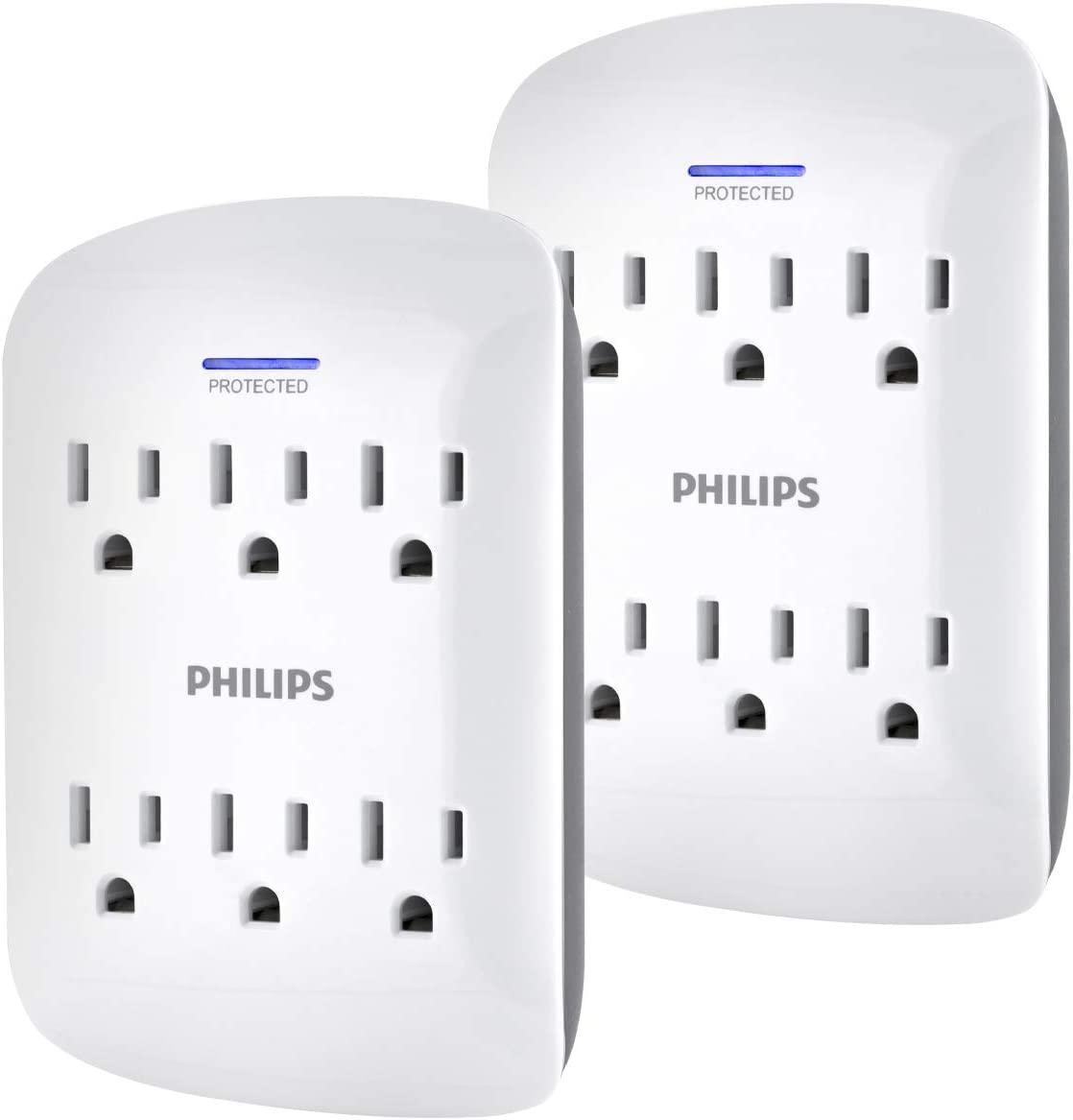 Paquete de dos multicontactos de seis entradas con protección contra sobrecarga