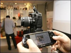 Canon EOS 40D en Madrid y controlada desde una PSP