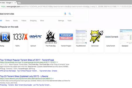 Google ahora recomienda webs de torrents en las búsquedas