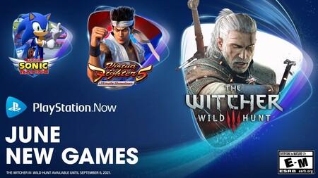 The Witcher 3: Wild Hunt, Virtua Fighter 5 Ultimate Showdown y Sonic Mania entre los juegos que se unirán a PS Now en junio de 2021