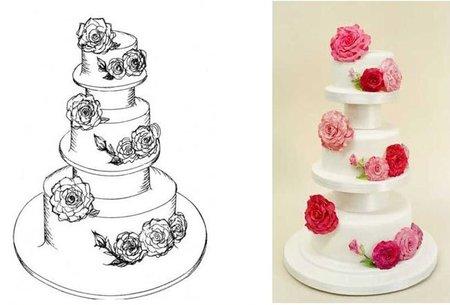 Bodas de lujo: una tarta nupcial personalizada de Rachel Mount