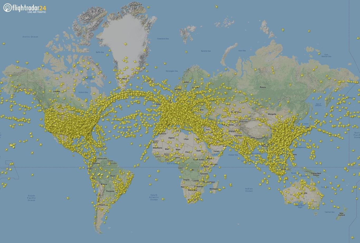 Mapa Vuelos En Directo.230 000 Vuelos Registrados En Un Solo Dia En Todo El Planeta Un Nuevo Record Que Se Batio Esta Semana No Una Sino Dos Veces