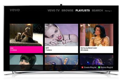 VEVO lanza su aplicación para los Smart TV de Samsung
