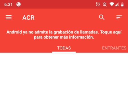 Acr Grabacion Llamadas Android Pie