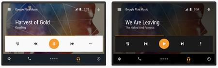 interfaz de usuario de Android Auto