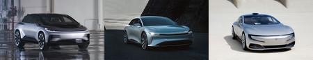 Evolución diseño coches FF Lucid Leeco