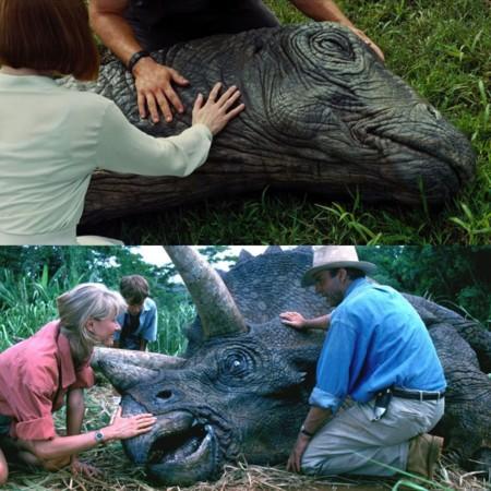 Jurassic World y Jurassic Park, dino moribundo