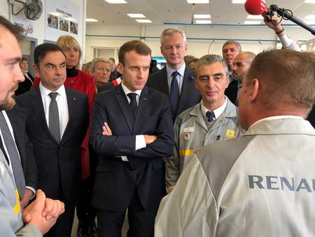 Carlos Ghosn Emmanuel Macron