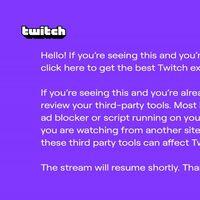 Twitch está mostrando este pantallazo morado en mitad de los streamings a los usuarios de AdBlock