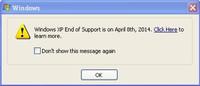 Microsoft mete presión para abandonar Windows XP con una web, avisos y herramientas de ayuda