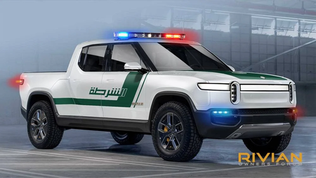 Rivian R1t Policia Dubai