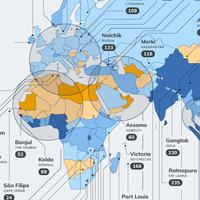 La ciudades más lluviosas de cada país del mundo, reunidas en estos mapas