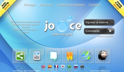Jooce, un sistema operativo online bastante espectacular