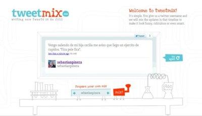 TweetMix.me mezcla frases de nuestros últimos tweets con resultados divertidos